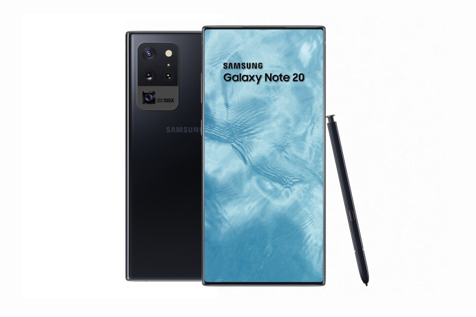 Galaxy Note 20 concept render with no hole punch - Samsung may have randomly revealed the radical new Galaxy Note 20 design