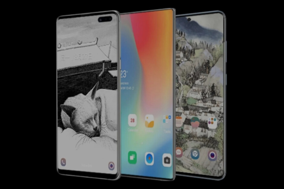 Possible Galaxy Note 20 teaser image with hidden selfie camera sandwiched between S10+ and S20 - Samsung may have randomly revealed the radical new Galaxy Note 20 design