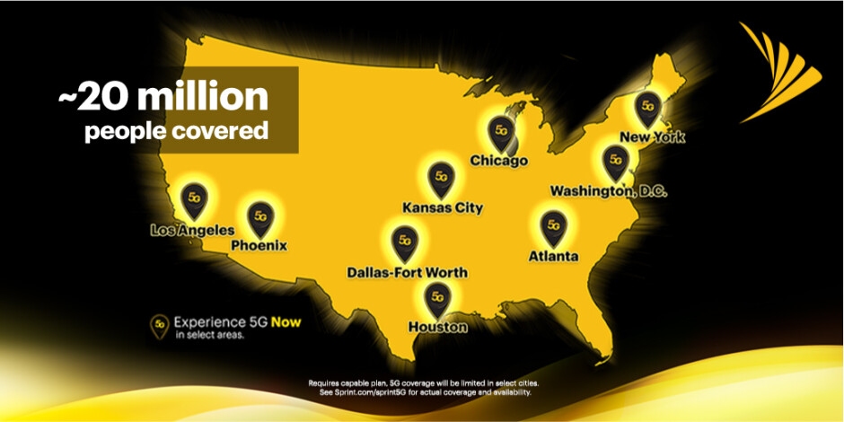 Sprint's 5G coverage cities - Samsung Galaxy S20 5G first to benefit from T-Mobile's merger with Sprint