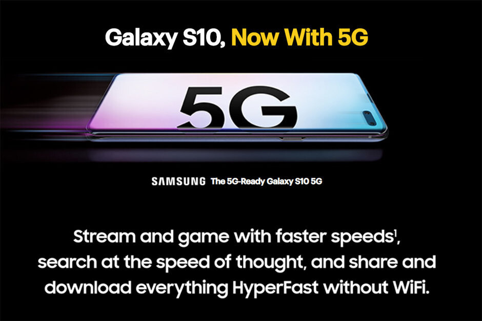 Perhaps that promotional text should have read Galaxy S10, for now with 5G - T-Mobile's big 5G plans are not good news for all Sprint customers