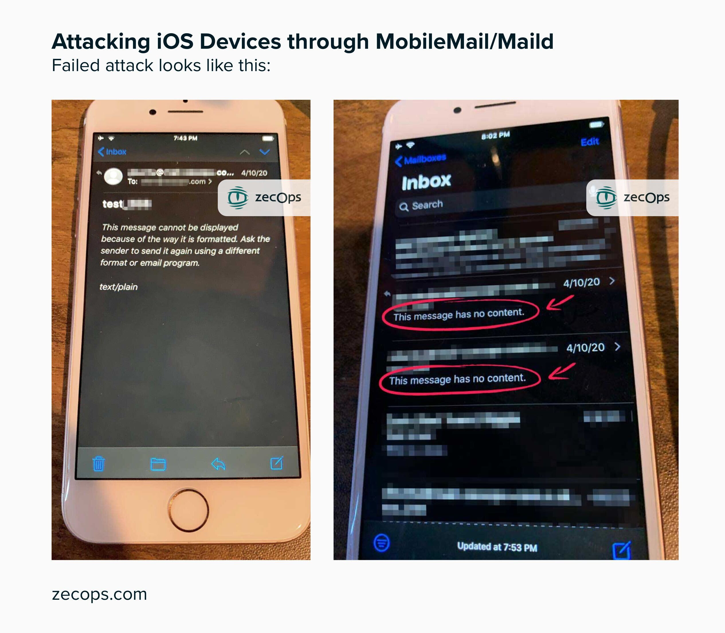 Unpatched iPhone bug could allow hackers easy access into the proprietary Mail app