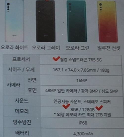 Yeni sızıntılar LG Velvet 5G kamera özelliklerini, pil boyutunu, belleği ve daha fazlasını ortaya koyuyor