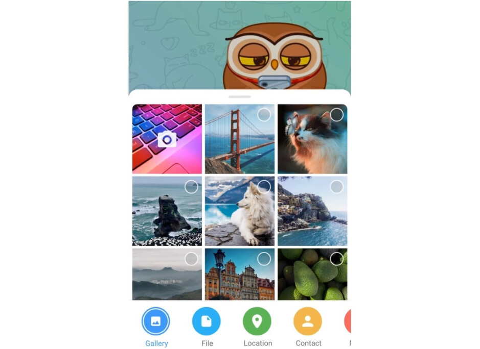 The Android Telegram app has a cute new file attachments interface - Telegram will join the video calling app revolution, announces new features and 400 million users