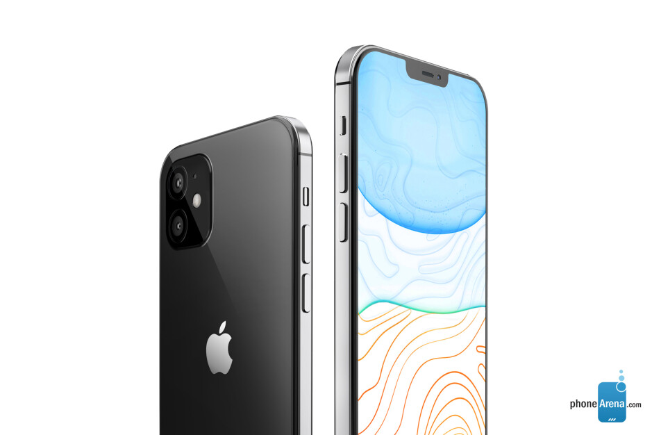 The iPhone 12 will have two cameras on the back, like the iPhone 11, but is expected to have a noticeably smaller notch and thinner bezels - Apple's 2020 iPhone 12 lineup pictured in beautiful design renders