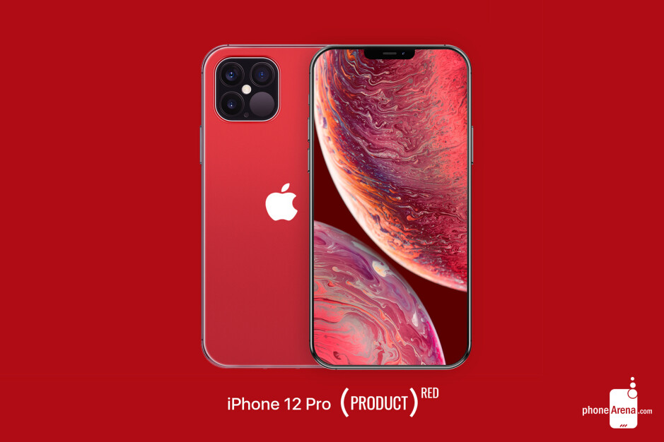 iPhone 12 Pro PRODUCT Red design concept - Apple's 2020 iPhone 12 lineup pictured in beautiful design renders