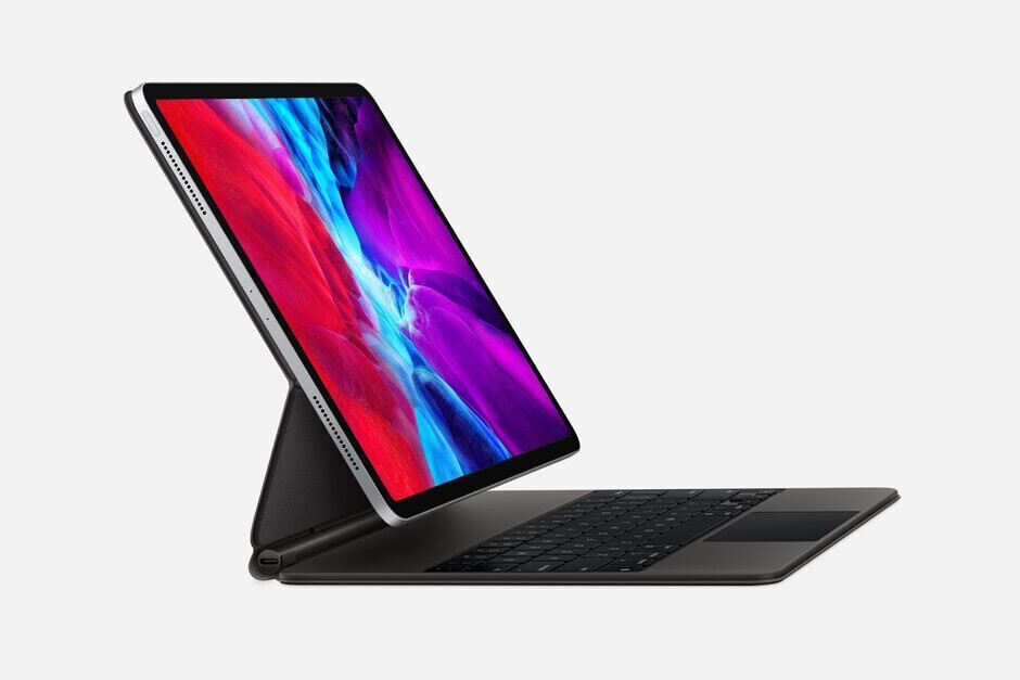The new Apple iPad Pro with the Magic Keyboard accessory - Apple reports lower iPhone sales than expected for the fiscal second quarter