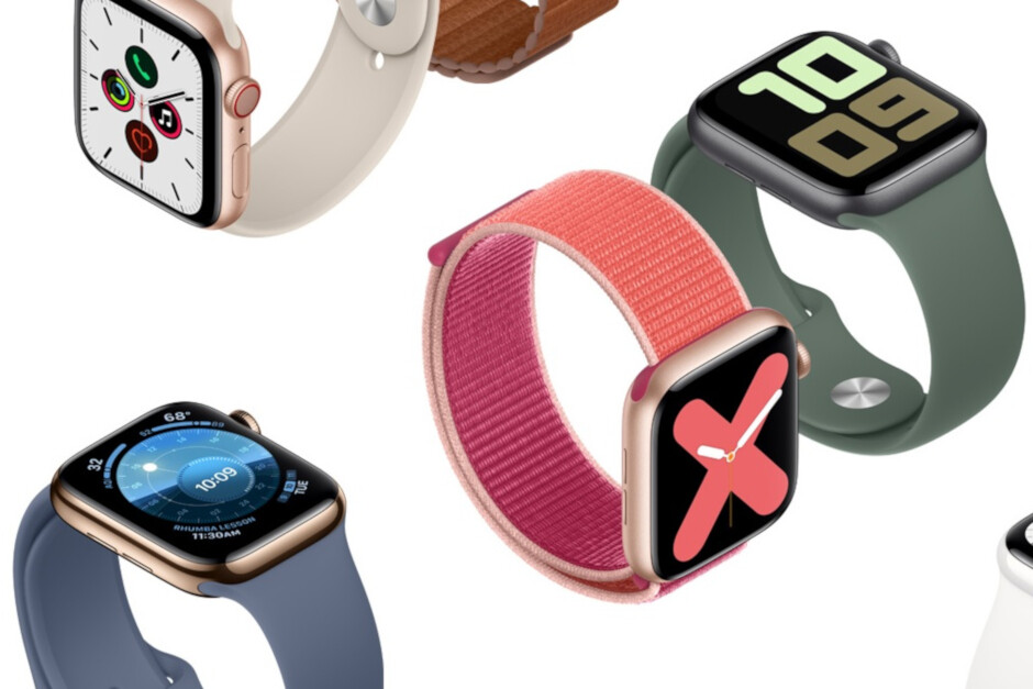 The Apple Watch Series 4 and the Apple Watch Series 5 (pictured) both have the electrocardiogram feature - Apple Watch catches severe heart problem that a hospital ECG missed