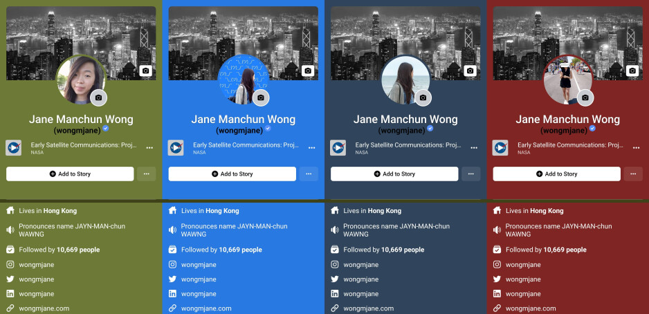 Image source - Jane Wong - Facebook is working on adaptive color background