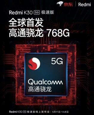 teaser poster showing the new chip - Xiaomi slips up, reveals a new midrange Qualcomm chip, the Snapdragon 768G