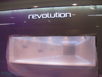 LG Revolution, LG Optimus Black and LG Optimus 2X booths at CES
