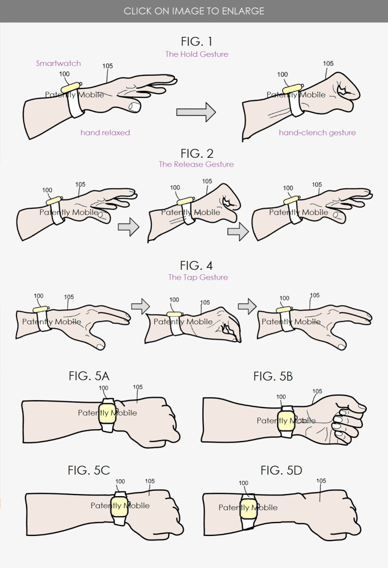 Google patents navigation gestures for a smartwatch - Patent application hints at Soli powered Google Pixel Watch navigation gestures