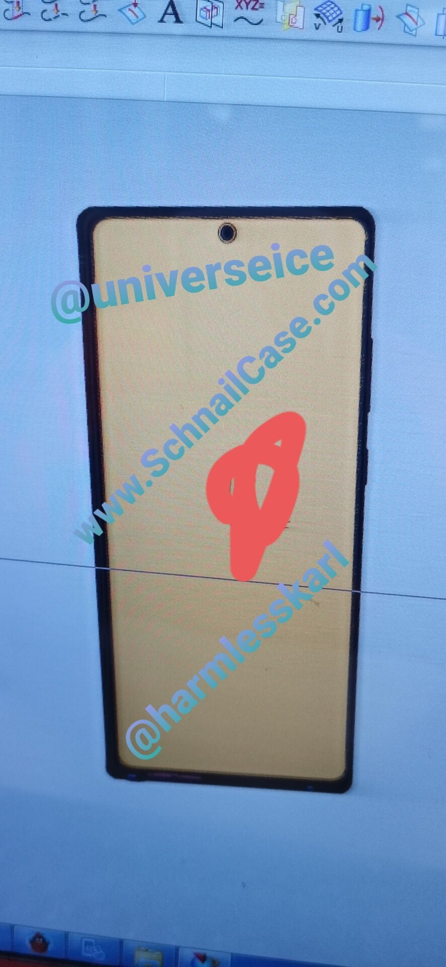 """Alleged CAD renders of the Samsung Galaxy Note20 - Leaked photos allegedly show """"rough"""" Samsung Galaxy Note20 CAD renders"""