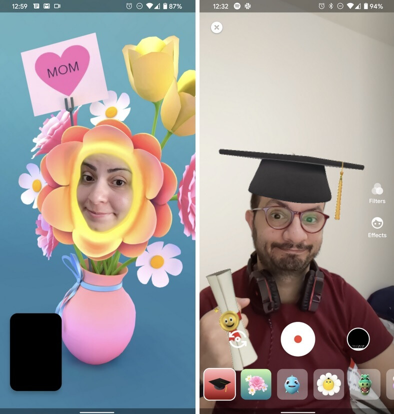 Version 87 of Duo includes new filters including one for graduation - Update to Google Duo allows users to be reachable by email