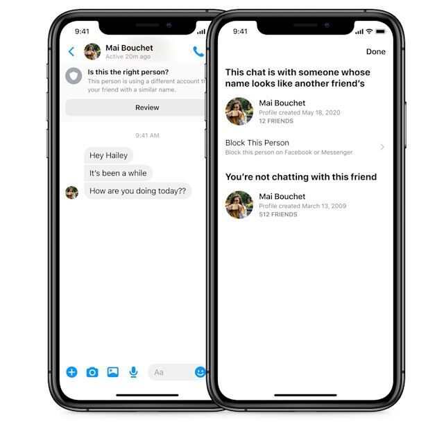 Facebook Messenger will battle scams with pop-up warnings