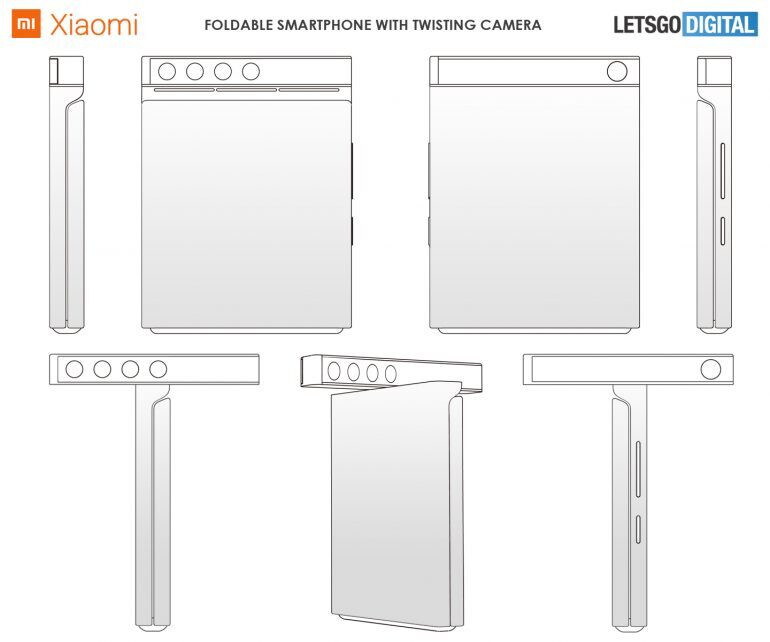 Image courtesy of LetsGoDigital - Xiaomi may launch a clamshell phone with rotating camera