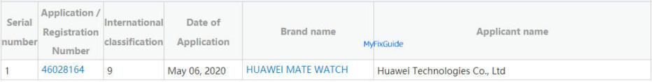 Huawei trademarks the Mate Watch moniker