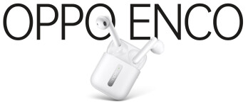 The Oppo Enco Free wireless earbuds resemble the sketch in Max J.'s tweet seen at the top of this article - OnePlus will allegedly unveil truly wireless earbuds