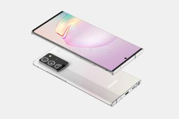 Leaked Samsung Galaxy Note 20+ 5G renders reveal sleek design ...