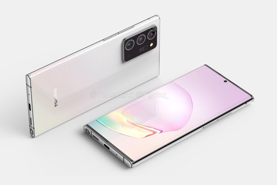 Renders of the Samsung Galaxy Note 20+ have leaked - One report suggests that the Samsung Galaxy Note20+ 5G could have a 7-inch screen
