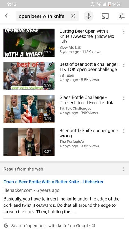 Google Search results integrated into the Android version of YouTube - Google tests useful Search related feature for Android YouTube app