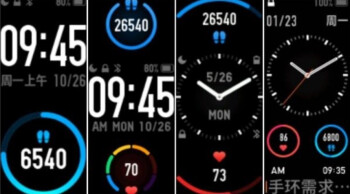 Screenshots show that an analog clock is coming to the MiBand 5 - Live photos of the Xiaomi Mi Band 5 leak