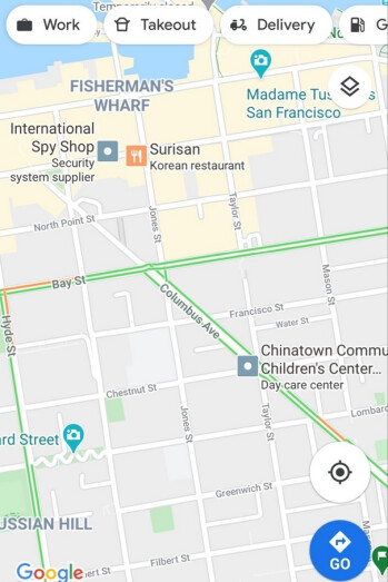 Google Maps now has a new icon that is an advertisement for a business that you're driving toward - New Google Maps feature might benefit Google more than users