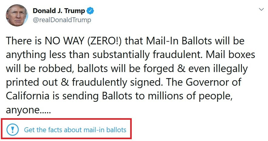 Twitter flags the president's tweet about mail-in ballots... - Twitter's fact-checking leads to Trump's tirade against social media; president threatens regulation