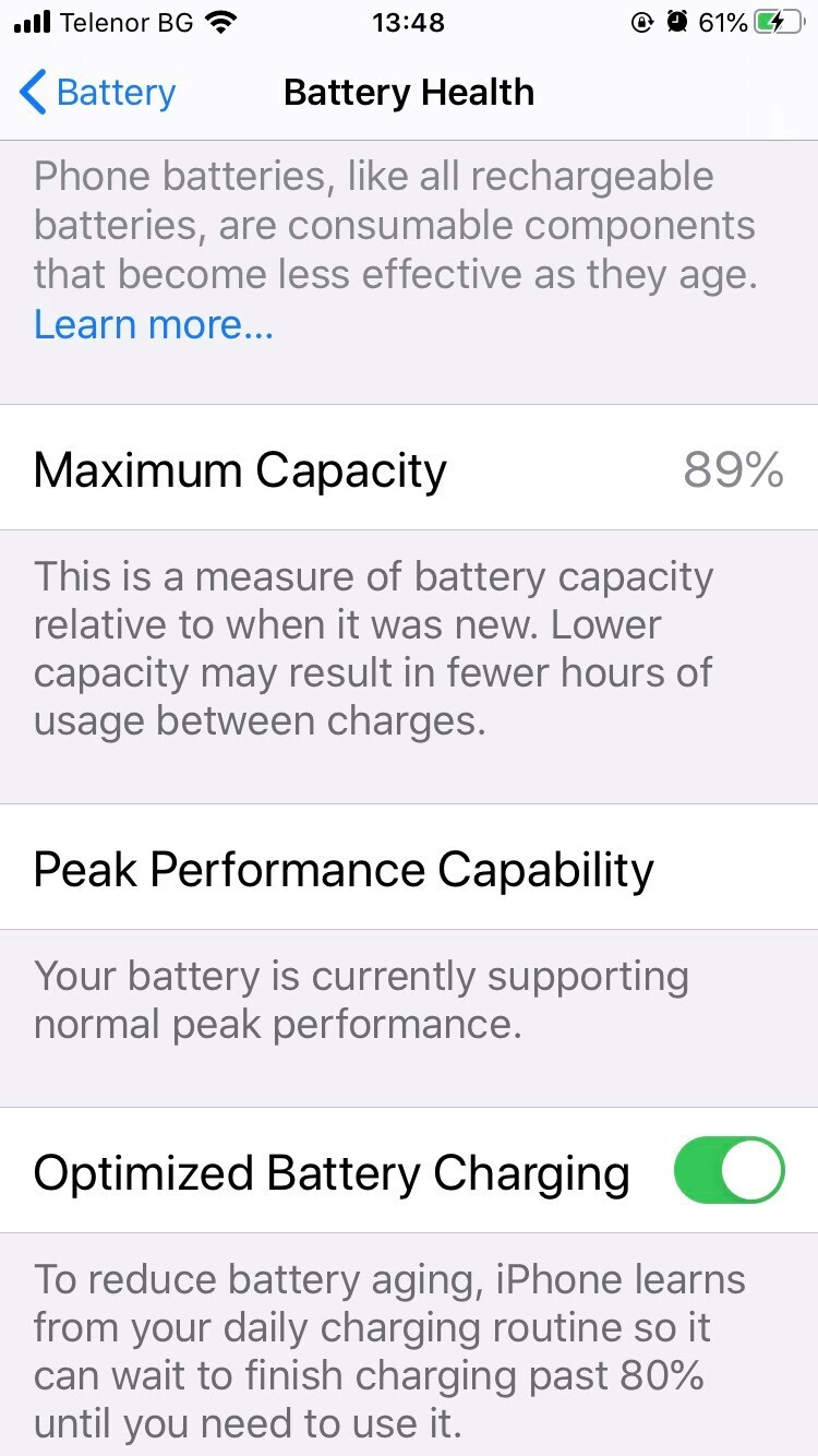 Battery Health page on iOS - What is iOS Battery Health and how to make your iPhone battery last longer
