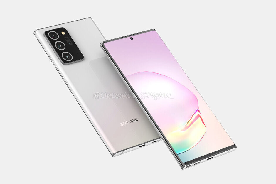 Render of the Samsung Galaxy Note 20+ 5G - The 5G Apple iPhone 12 series might not be the first phones powered by a 5nm chip