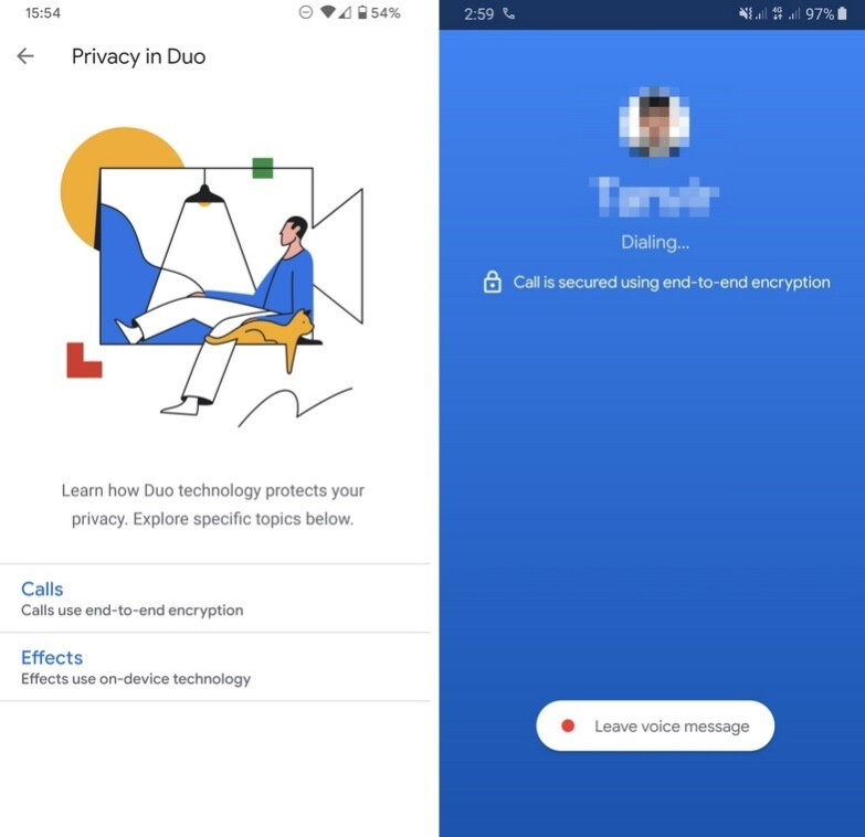 Google wants to promote the fact that its Duo video chat app uses end-to-end encryption - Google is letting you know that its Duo app has a major FaceTime feature