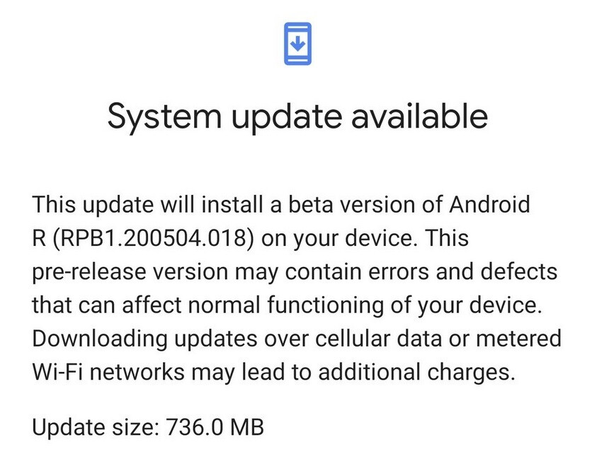 Some Pixel 4 XL owners received the first Android 11 beta update by accident - Google's giant mistake allows some Pixel 4 XL users to install the first Android 11 beta