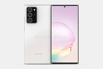 Samsung Galaxy Note 20+ CAD-based render - Leaked Galaxy Note 20+ 5G camera specs reveal 13MP periscope, 50X zoom, more