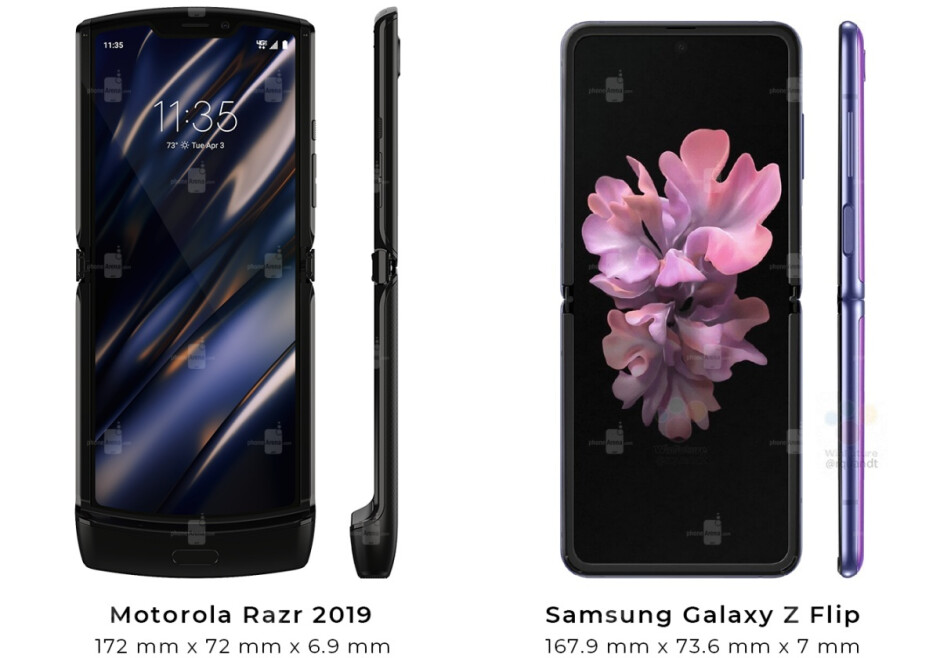 Can you believe the phone on the left comes with a much smaller display than the one on the right? - The Motorola Razr 2 5G will catch up to Samsung's Galaxy Z Flip in a key area