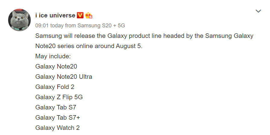 Samsung Galaxy Note 20 5G release date and charger specs tipped, launching earlier