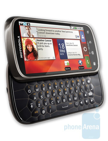 Motorola CLIQ 2 has uniquely-shaped buttons