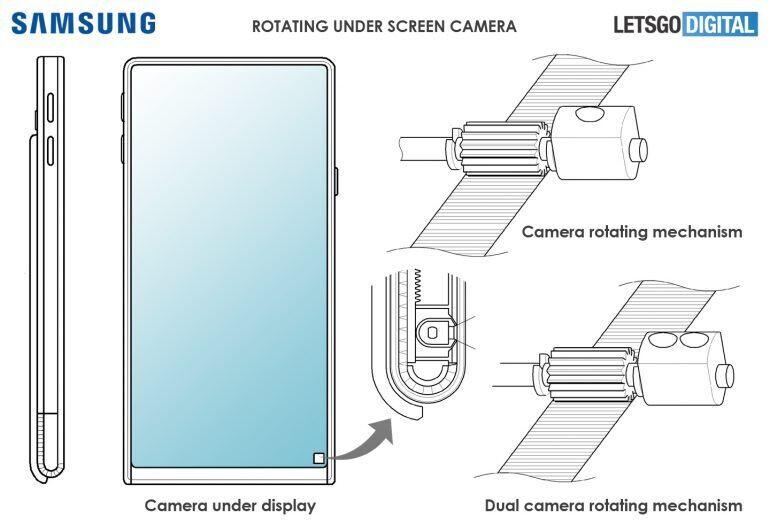 Samsung hidden selfie camera patent - Galaxy S21 (S30) may have hidden selfie camera, as Visionox starts mass under-display production