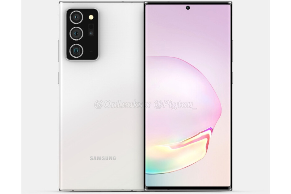 Factory CAD-based Galaxy Note 20+ render - Samsung's Galaxy Note 20, Fold 2, and Z Flip 5G release schedule is now 'corroborated'