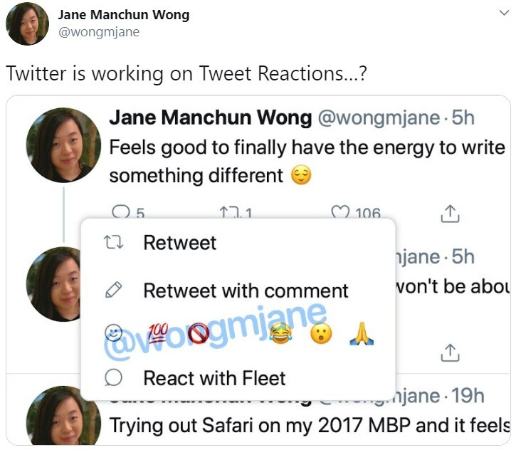 Leaked new Twitter feature suggests Tweet Reactions are coming