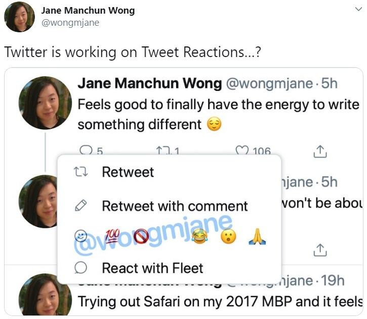 Διαρροή νέα δυνατότητα Twitter υποδηλώνει ότι έρχονται αντιδράσεις Tweet