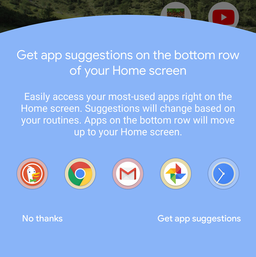 Suggestions are one way to spice up your home screen - Android 11 R Preview: A quality of life update