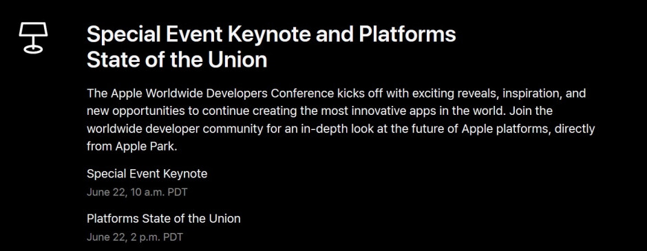 Apple will live stream its WWDC keynote on June 22nd starting at 9 am PDT - Apple announces WWDC streaming schedule while 5G leads stock to all-time high