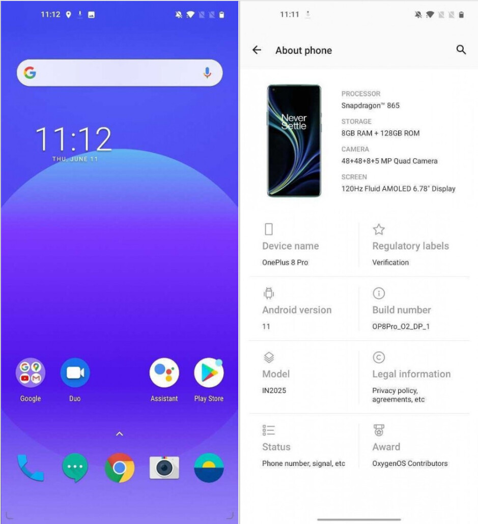 Android 11 R beta running on the OnePlus 8 Pro - OnePlus 8 and 8 Pro get Android 11 beta, but it may brick your phone
