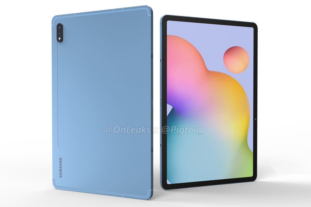 Leaked renders of the smaller Samsung Galaxy Tab S7 - First benchmark reveals good but not great Samsung Galaxy Tab S7+ 5G specs