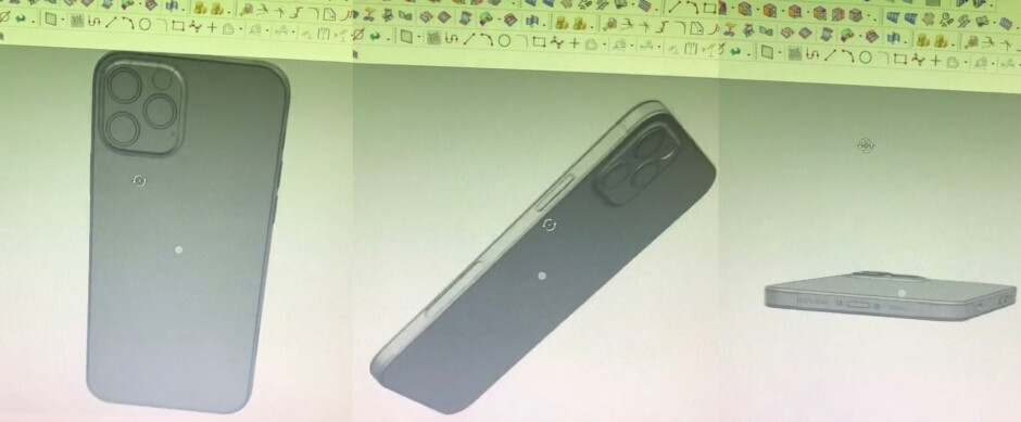 CAD images of the iPhone 12 Pro - Take a look at these molds showing off the classic design of the 5G Apple iPhone 12 line