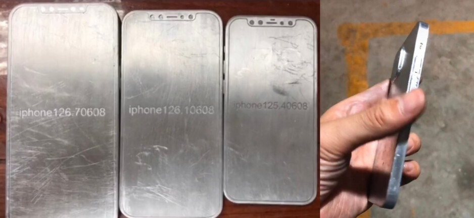 The Apple iPhone 12 line expected to be unveiled in September - Take a look at these molds showing off the classic design of the 5G Apple iPhone 12 line