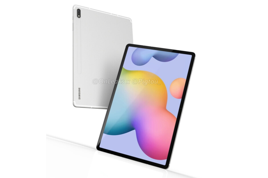 Leaked Galaxy Tab S7+ renders - First benchmark reveals good but not great Samsung Galaxy Tab S7+ 5G (and Tab S7) specs