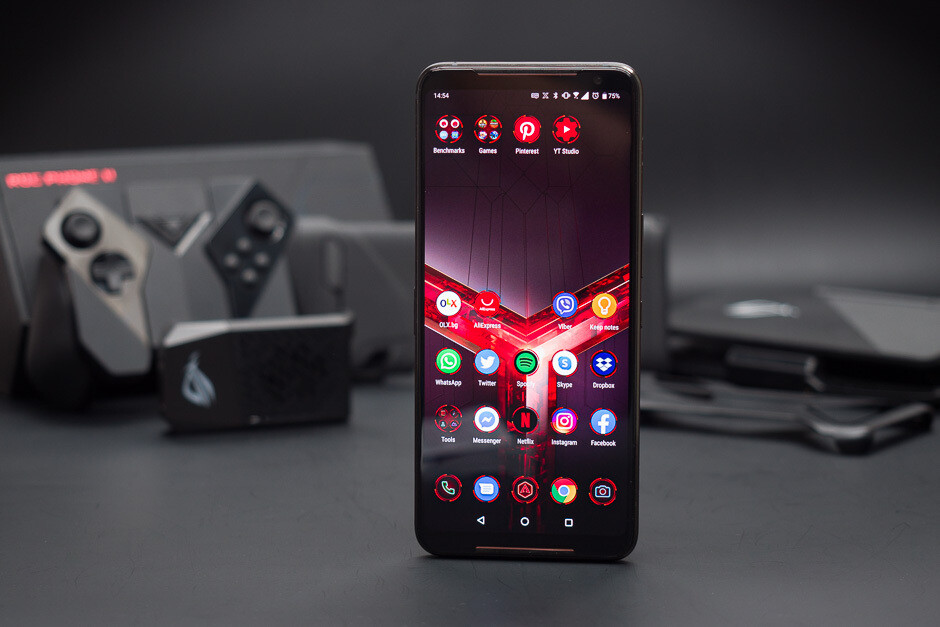 The display of the Asus ROG Phone II. - Asus ROG Phone 3 specs leak – overclocked processor, huge battery and 5G support