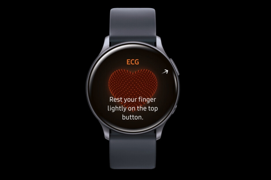 ECG functionality in action on the Galaxy Watch Active 2... in Korea - Massive leak reveals key Samsung Galaxy Watch 3 specs and features