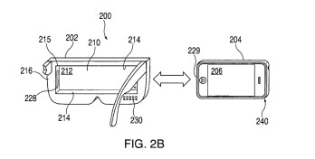 One version of Apple Glass can be created by sliding a phone into a frame - Apple Glass won't need prescription lenses according to a new patent