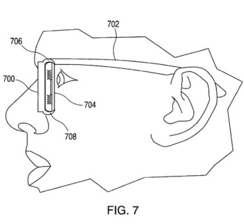 Illustration from the patent shows how a Phone can slide into a frame to create AR glasses - Apple Glass won't need prescription lenses according to a new patent